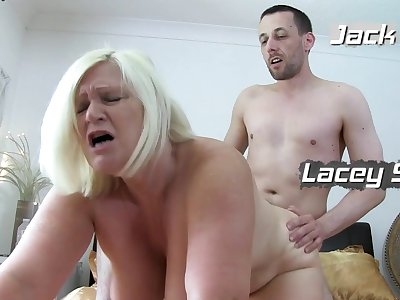 Old British Mature Serving Two Guys At Once - mom in threesome