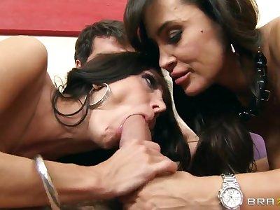 Ava Addams,  Lisa Ann,  Ramon have threesome sex