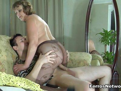 MaturesAndPantyhose Video: Emilia B and Rolf