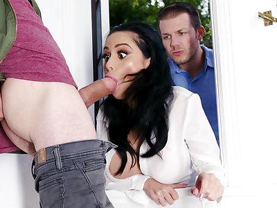 Lustful neighbors fucked unchanging busty wed