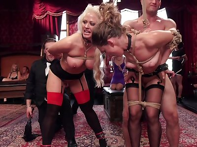 Unmask column posing hot and submissive during insane orgy