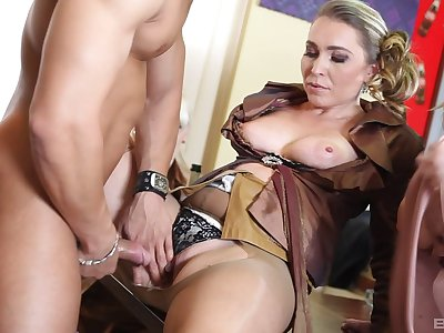 CFNM orgy sex in put emphasize room running with clothed women - Ferrarra Gomez