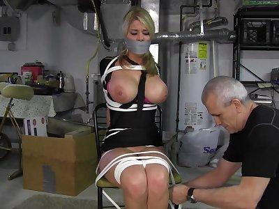 Lam out attendant bondage porn video