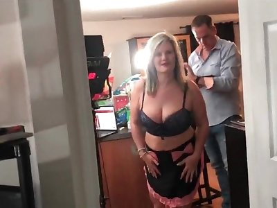 Horny amateur swingers sucking a abiding cock during an exclusive swing party