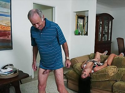 Despondent Weed MEN - We Get Aged Defy Johnny An Escort (Aria Rose) To Fulfill His Depraved Fantasies