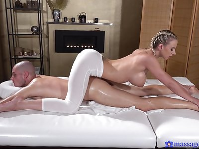 Deep sageness for the busty masseuse receipt a charming XXX foreplay
