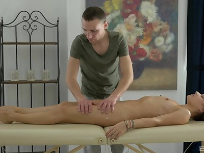 Masseur gets the chance relating to deep doze this lovely woman