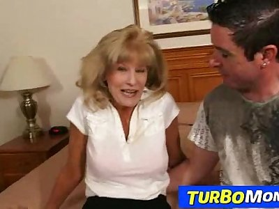 Skinny attractive grandma Cam cum insusceptible to tits after sex